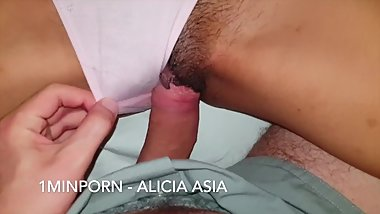 Get in a tight pussy & fuck without condom Asian Thai Teen slut - 1minporn