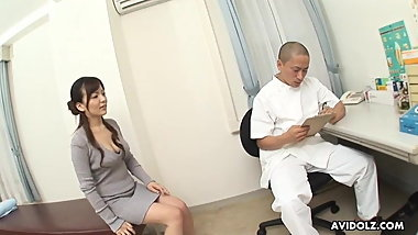 Japanese lady, Asuka Ayanami fucks a doctor, uncensored