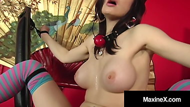Asian Mother Maxine X Binds & Machine Fucks Janessa Jordan!