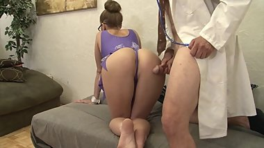 Chinese Doctor fucks the Hot Body MILF in Leotard Hard & Rough with Facial