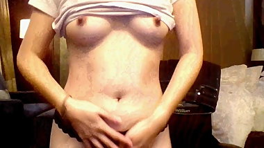 27yo asian strips, teases, and masturbates