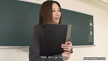 Japanese teacher, Rei Haruka got fucked, uncensored