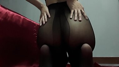 Hit Hot Butt Asian Girl - Black Pantyhose ???????? ????? mlive