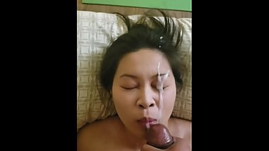 bbc plastering asian gf in thick cumshot facial