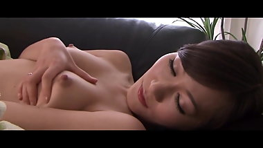 Slender Asian MILF opens wide and massages her clit