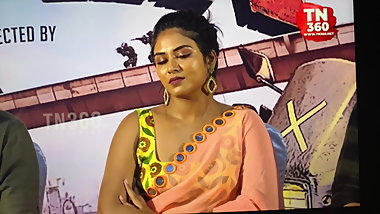 Curvy, dusky bitch Indhuja Ravichandran morning tribute 1