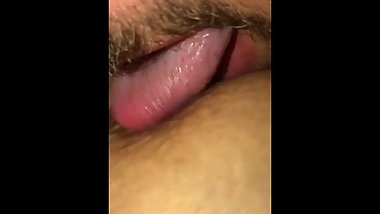 Bf sucking and licking my nipples.