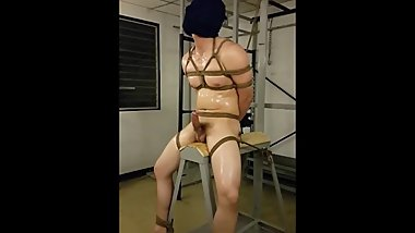 Handsome Thai steward plays BDSM 1