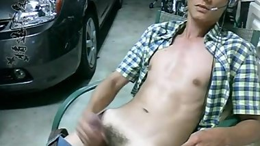 Chinese straight masturbate himself cumshot with dirty talk and moan 3