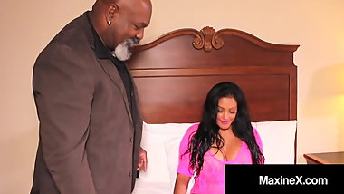 Busty Asian Fuck Doll MaxineX Gets Wrecked By Big Black Cock