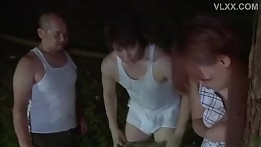 Wife Fucked by Soldiers in the Forest at Night