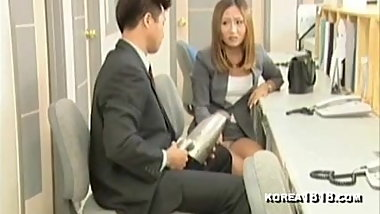 Slutty Office Korean Girl fucks