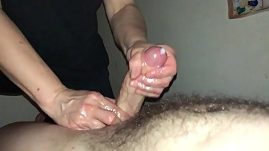 OILY HAPPY ENDING HAND JOB WITH CUMSHOT - FULL VIDEO - onlyfans JAYTHICKXXX