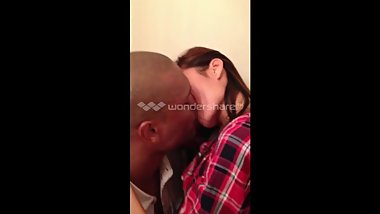 Taiwanese girl making out/kissing Latino in bathroom party!