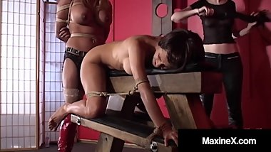 BDSM Master Class - Maxine X Tied & Muted With Mexican Whore