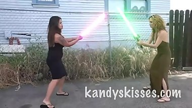 2 Girls Light Saber Match