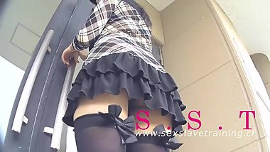 Yumika 18yo university student first time public outdoor flashing