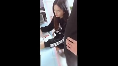Cute asian teen fucked by her tutor