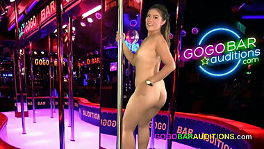 New Thai girl auditions for gogo job