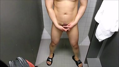 University Gym Shower Pissing, Shaving & Jerking, Cumming