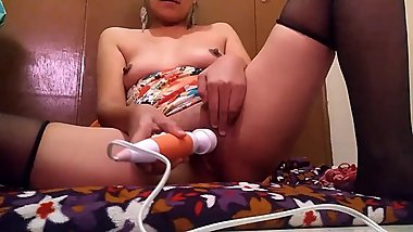 ORGASM with MAGIC WAND