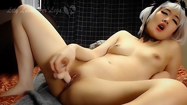 Japanese Uncensored Lily Riverside Tickled, Blows Cock, & Cum on Her Feet
